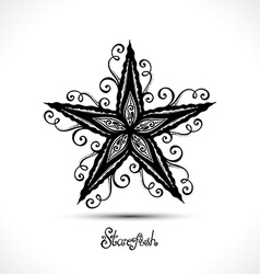 Abstract Starfish vector image