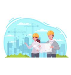 Architect work cartoon vector
