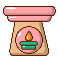 Aromatic lamp icon cartoon style vector