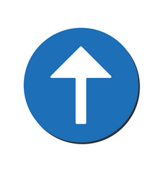 arrow up icon this rounded flat symbol is vector image