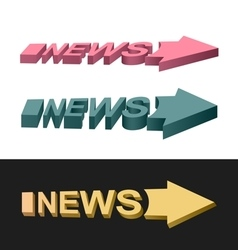 Arrows news vector