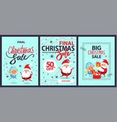 Big final christmas sale holiday discount shop now vector