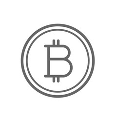 bitcoin coin line icon vector image