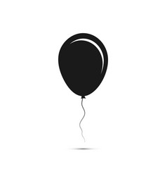 black balloon icon balloon with shadow vector image