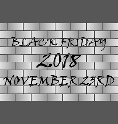black friday - black and grey vector image