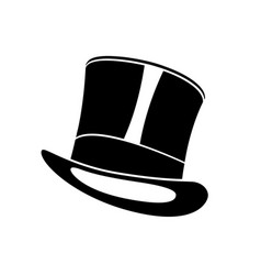 black top hat gentleman cylinder hat vector image