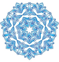 Blue snowflake ilustration vector image