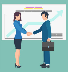business people shaking hands agreement vector image