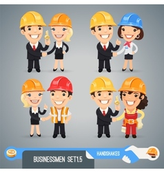 Businessmen cartoon characters set15 vector