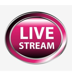 Button Livestream vector