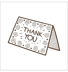 Card with thanksgiving text vector