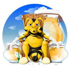 cartoon bee eps 10 vector image