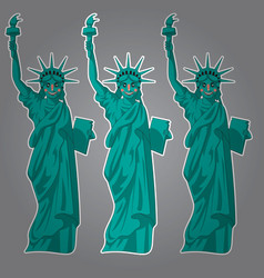 cartoon statue liberty funny landmark united vector image