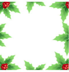 christmas frame with christmas berry vector image