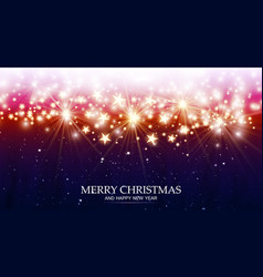 Christmas magic background with light and stars vector