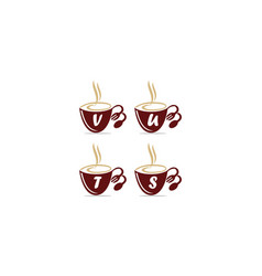 coffee cup restaurant set vector image