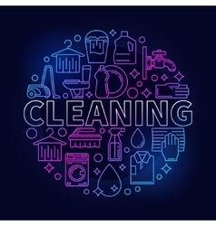 Colorful cleaning service sign vector