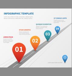 company timeline infographic milestone vector image