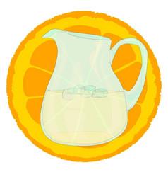 cool orangeade vector image