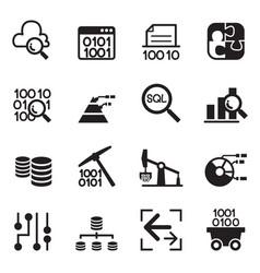 data mining technology data transfer data vector image