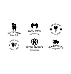 Dentist symbols set vector image