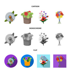 Design spring and wreath symbol set of vector