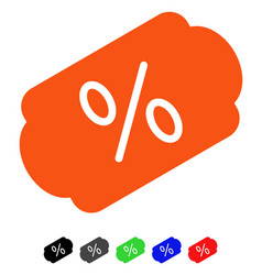 Discount label flat icon vector