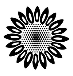 dot flower icon simple style vector image