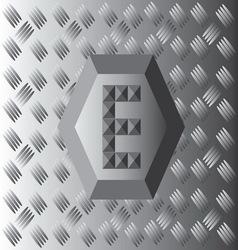 E Text Aluminium Wallpaper vector