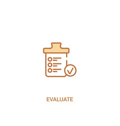 Evaluate concept 2 colored icon simple line vector