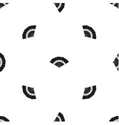 fan pattern seamless black vector image