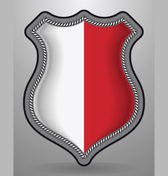 Flag of poland badge and icon vector