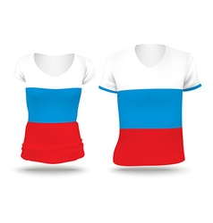 Flag shirt design of Russia vector image