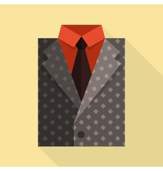 Flat business jacket and tie Gray color vector image