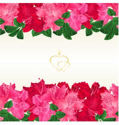 floral border horizontal seamless background vector image