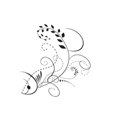 Floral fish vector