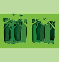 Forest with trees and grass vector