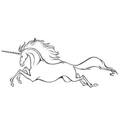 galloping unicorn vector image
