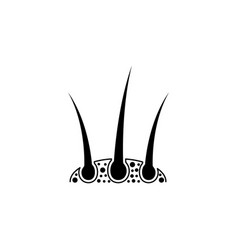 hair icon design template isolated vector image
