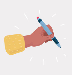 hand with pen vector image