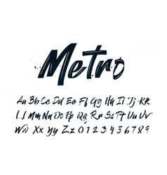 handdrawn calligraphy brush script typography vector image