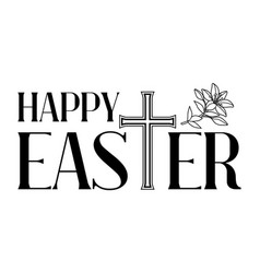 happy easter concept cross and vector image