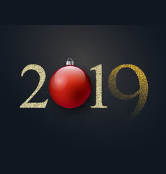 happy new year celebration luxury black background vector image