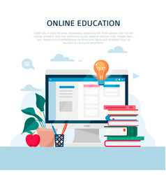 Home education concept in flat style vector