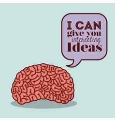 Human brain design vector