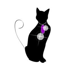 icon cat vector image