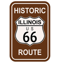Illinois historic route 66 vector
