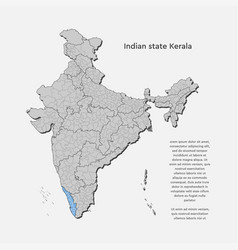 India country map and state template vector