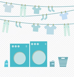 Laundry day vector