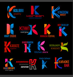 Letter k creative icons modern corporate identity vector